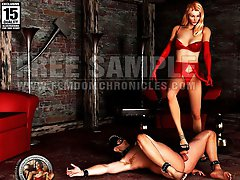 Femdom humiliation story illustrated with 3D