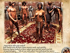 Hot story about female warrior enslaving and humiliating man 3D pics illustrated