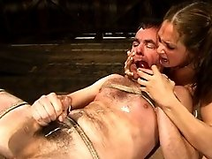 Tory Lane kicks him, fucks him and force milks him