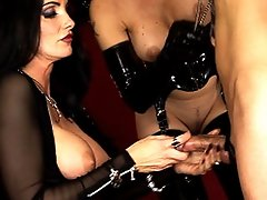 Mistress Carmen has her slaves worshipping her pussy