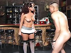 Tina Tink takes great pleasure in delivering wicked blows to Eric`s testicles