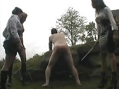 Three on one caning
